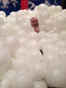 Matt Lewis in a balloon cloud