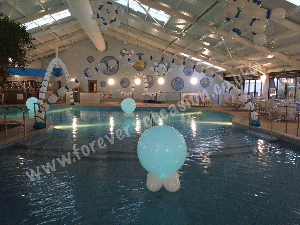 Pool Decor with Super Size Balloon Lites